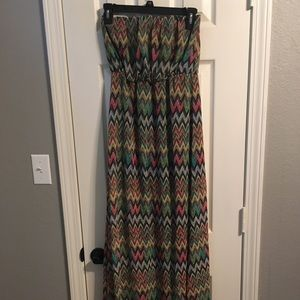 LESHOP strapless maxi dress
